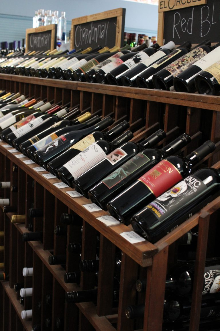 wine selection at rollers wine & spirits
